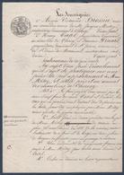 Manuscrit De 1848.Cherisy.Saint-James Commune De Saint-Denis-de-Moronval.Timbre Royal 35c. - Manuscrits