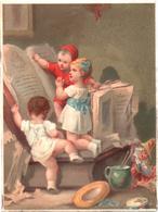 Chromo Chromolithographie. Les Enfants Et La Prière Devant Le Livre. Testu Massin 23-2/2 - Chromo