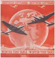 Winter Time Table - Cartes