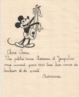 Papier Lettre Effigie Mickey Disney Voeux 1932 - Livres, BD, Revues