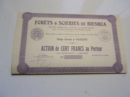 FORETS & SCIERIES DE BIENHOA (cent Francs) Saigon,indochine - Non Classés