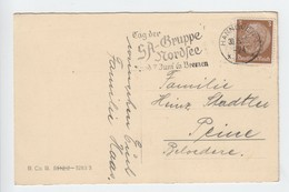 Karte Mit Werbestempel , Tag Der SA -Guppe Nordsee 1936 - Briefe U. Dokumente