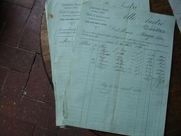 Lot De 9 De 1884 Cagnes Allo Andre Legulme Sec Vollaille Fromage  Facture - France