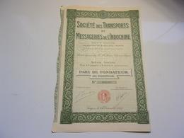 TRANSPORTS ET MESSAGERIES DE L'INDOCHINE (fondateur) SAIGON - Non Classés