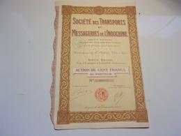 TRANSPORTS ET MESSAGERIES DE L'INDOCHINE (100 Francs) SAIGON - Non Classés