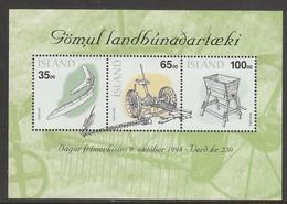 BLOC NEUF D'ISLANDE - OUTILS AGRICOLES D'AUTREFOIS (JOURNEE DU TIMBRE 1998) N° Y&T BF 22 - Agriculture