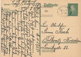Ganzsache Altenburg Die Skatstadt Thüringen Ebert - Allemagne