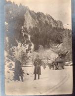 Photo Anonyme Vintage Snapshot Luz La Croix Haute Neige Snow - Places