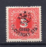 CZECHOSLOVAKIA  1918 , MH , BUDWEIS - Ungebraucht