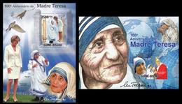Guinea Bissau 2010 Mother Teresa Klb+s/s MNH - Mother Teresa