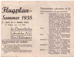 Flugplan Sommer 1935 - Cartes