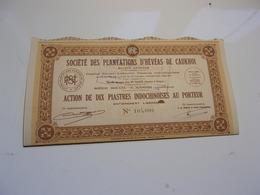 PLANTATIONS HEVEAS DE CAUKHOI (1948) SAIGON-INDOCHINE - Non Classés