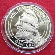 Gibraltar 1 Crown 2005 Trafalgar Sail Ship - Gibraltar