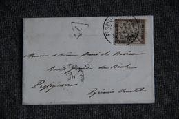 Timbre Taxe Sur Lettre - Cachet Courrier Ligne Maritime Vers PERPIGNAN (66) Et Carte Aspirant De Marine. - Marcophilie (Lettres)