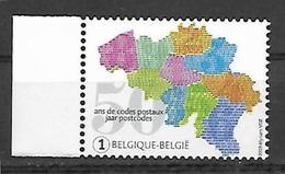 Belg 2019 - 50 Ans D'introduction Des Codes Postaux ** - Nuovi