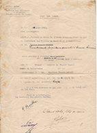 72/ LOCATION IMMEUBLE PAR ARMEE BELGE 1940 MINERVOIS - Documents