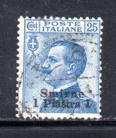 XP4249 - SMIRNE 1909,  Sassone N. 4  Usato. - European And Asian Offices