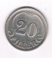 20 FILLER 1926  HONGARIJE /2983/ - Hongrie
