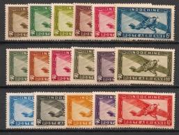 Indochine - 1933-38 - Poste Aérienne PA N°Yv. 1 à 14 - Série Complète - Neuf Luxe ** / MNH / Postfrisch - Indochina (1889-1945)