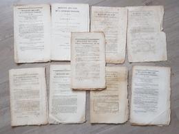 Bulletins Des Lois 1848, 9 Bulletins En Tout - Décrets & Lois