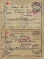 1916 - OLONEZ  KARELIEN , Rotes Kreuz, Kriegsgefangene Post, 2 Stk. - 1857-1916 Empire