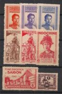 Indochine - 1941-42 - N°Yv. 224 à 231 - Complet 8 Valeurs - Neuf Luxe ** / MNH / Postfrisch - Indochina (1889-1945)