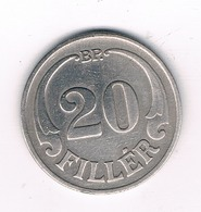 20 FILLER 1927  HONGARIJE /2984/ - Hongrie