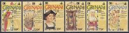 Grenada 1992 Entdeckungen Discovery Amerika Kolumbus Columbus Schiffe Ships Vögel WORLD STAMP EXPO, Mi. 2412-7 ** - Grenade (1974-...)