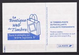 """Carnet N° 3744-C3  """" La Boutique Web Du Timbre """" - Usage Courant"""
