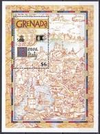 Grenada 1992 Entdeckungen Discovery Amerika Kolumbus Columbus Landkarten Maps WORLD STAMP EXPO, Bl. 303 ** - Grenade (1974-...)