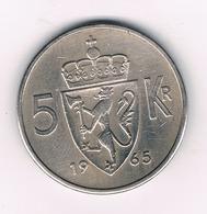 5 KRONE 1965 NOORWEGEN /2286/ - Norvège