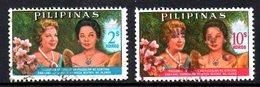 PHILIPPINES. N°623 & 625 Oblitérés De 1965. Princesse Béatrix Des Pays-Bas. - Koniklijke Families