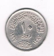 10 PIASTRE 1967 EGYPTE /2287/ - Egypte