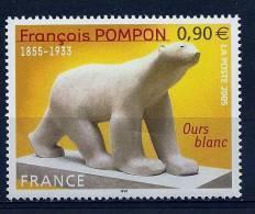 """FR YT 3806 """" François Pompon, Ours Blanc """" 2005 Neuf** - Ongebruikt"""