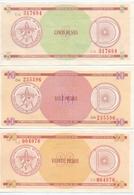 CUBA 1985 - SERIE D1 / 5-10-20 PESOS - FX29 FX30 FX31 - RAREST FX CERTIFICATE BANKNOTE LOT - Cuba