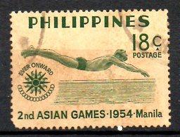 PHILIPPINES. N°421 Oblitéré De 1954. Plongeon. - High Diving