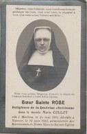 Souvenir Mortuaire De Soeur Sainte Rose ( Marie Collot ) Née à Maillen En 1869 Et Décédée à Namur En 1925 - Décès