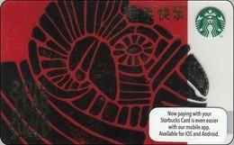 Malaysia Starbucks Card  Happy New Year Sheep 2014-6105 - Gift Cards