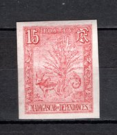 MADAGASCAR N° 68 NON DENTELE  NEUF SANS CHARNIERE COTE 235.00€    TYPE ZEBU - Unused Stamps