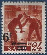 Sarre N°223** Papier Blanc 6fr Valeur Très Déplacée Et Barres Décalées TTB Signé - 1947-56 Occupation Alliée