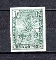 MADAGASCAR N° 75a NON DENTELE  NEUF SANS CHARNIERE COTE 270.00€    TYPE ZEBU - Unused Stamps