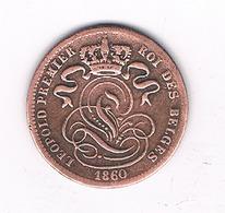1 CENTIME 1860 BELGIE /2295/ - 1831-1865: Léopold I
