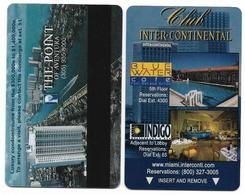 Inter-Continental Miami, Older, Used Magnetic Hotel Room Key Card, # Intercontinental-148 - Cartes D'hotel