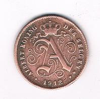 1 CENTIME 1912 VL BELGIE /2298/ - 1909-1934: Albert I