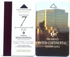 Inter-Continental Guadalajara, Mexico, Older, Used Magnetic Hotel Room Key Card # Interc-109 - Cartes D'hotel