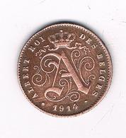 1 CENTIME 1914 FR BELGIE /2299/ - 1909-1934: Albert I