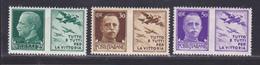 ITALIE N°  229, 230, 232 ** MNH Neufs Sans Charnière, Vignette De Propagande, TB (D8721) Victor Emmanuel III - 1929-30 - 1900-44 Victor Emmanuel III