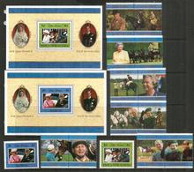 Noces D'Or Du Couple Royal Britannique. Emissions Spéciales Des îles Samoa & Papouasie.12 Val.+ 2 B-F Neufs ** Côte 45 € - Koniklijke Families