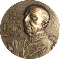 ESPAÑA. FRANCISCO FRANCO. MEDALLA GENERALÍSIMO DE LOS EJÉRCITOS. METAL PLATEADO. ESPAGNE. SPAIN MEDAL - Monarquía/ Nobleza