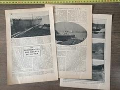 ANCIEN DOCUMENT 1908 LES PREMIERS PAS DES GEANTS DE LA MER PRINCIPESSA YOLANDA - Vieux Papiers